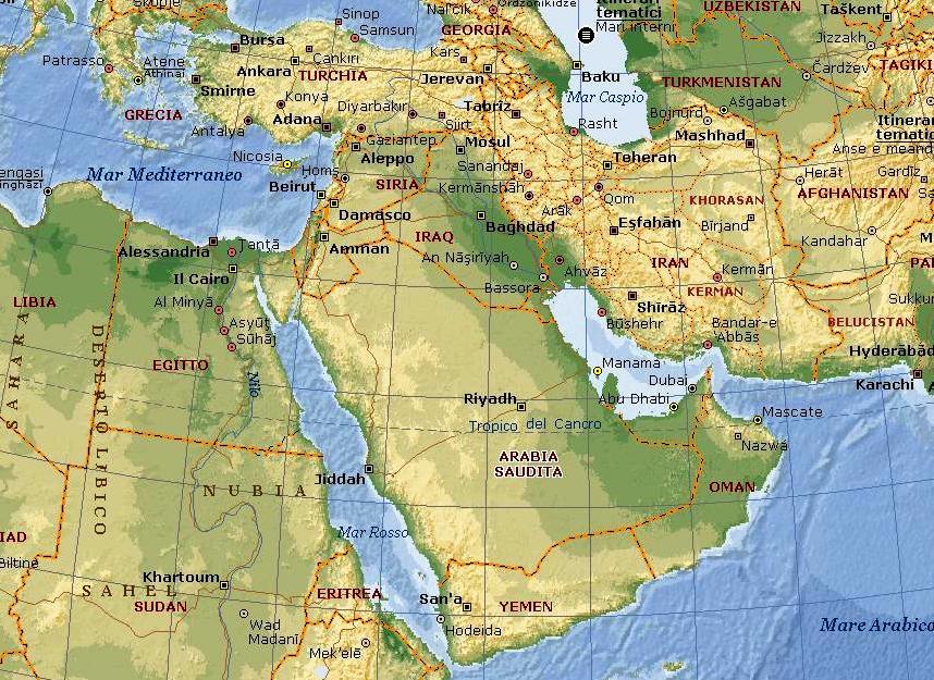 Medio Oriente Cartina Fisica.Medio Oriente Isis Informazione Un Analisi A Tutto Campo Radio Onda D Urto
