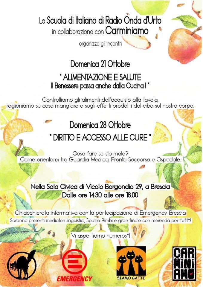 Domenica 28 Ottobre Diritto E Accesso Alle Cure In Vicolo Borgondio A Brescia Radio Onda D Urto